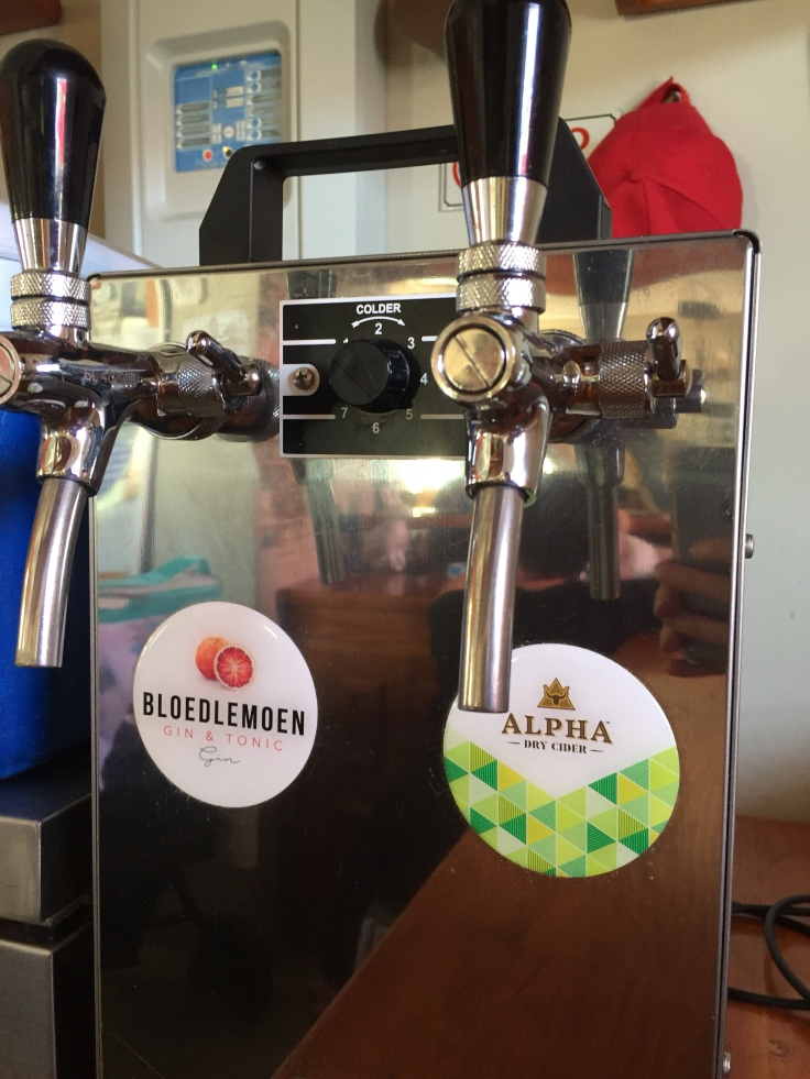 gin and cider on tap